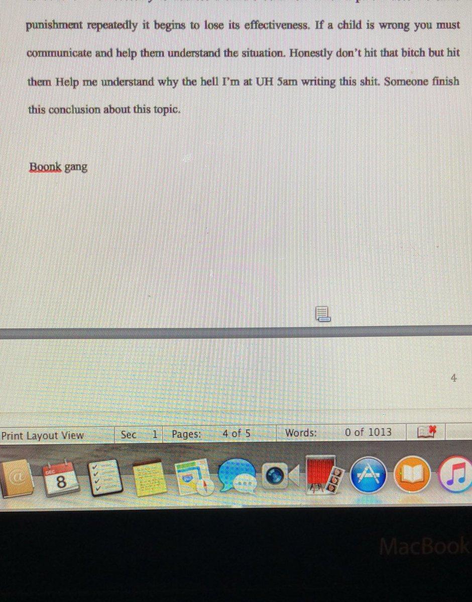 my professor essay
