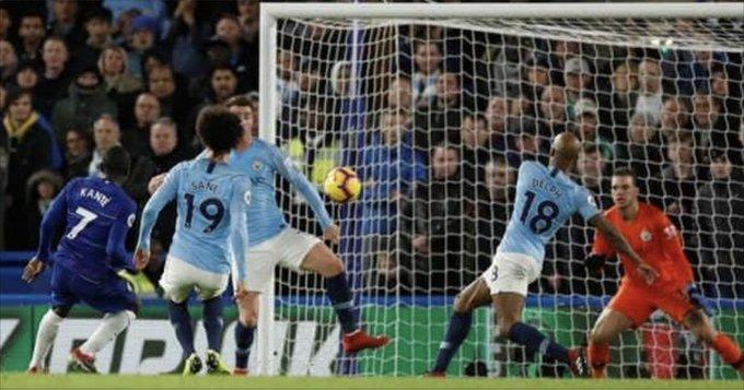 Kante, David Luiz score as Chelsea end Man City unbeaten run in the Premier League Photo