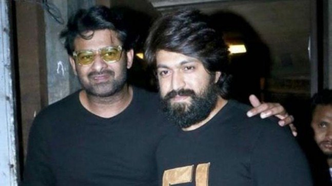 Baahubali #Prabhas spotted with KGF star Yash in Mumbai. See pic - India Today Photo