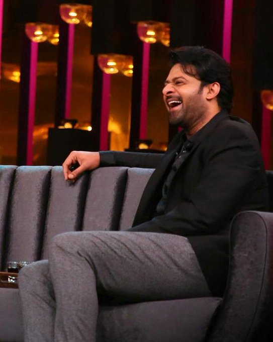 Why #Prabhas is laughing 🤔 Any guesses? #KoffeeWithKaran Photo