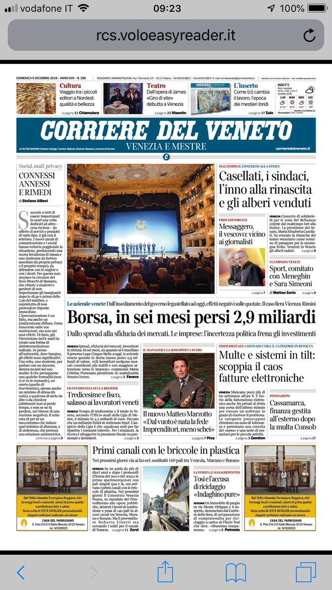 RT @alerussello: Buongiorno con il Corriere https:...