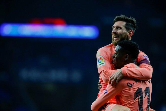 Yesterday, Espanyol 0-4 Barça. Wonderful performance from Barça in Cornellà. Soccer: Messi X2, Dembele and Suarez. Foto