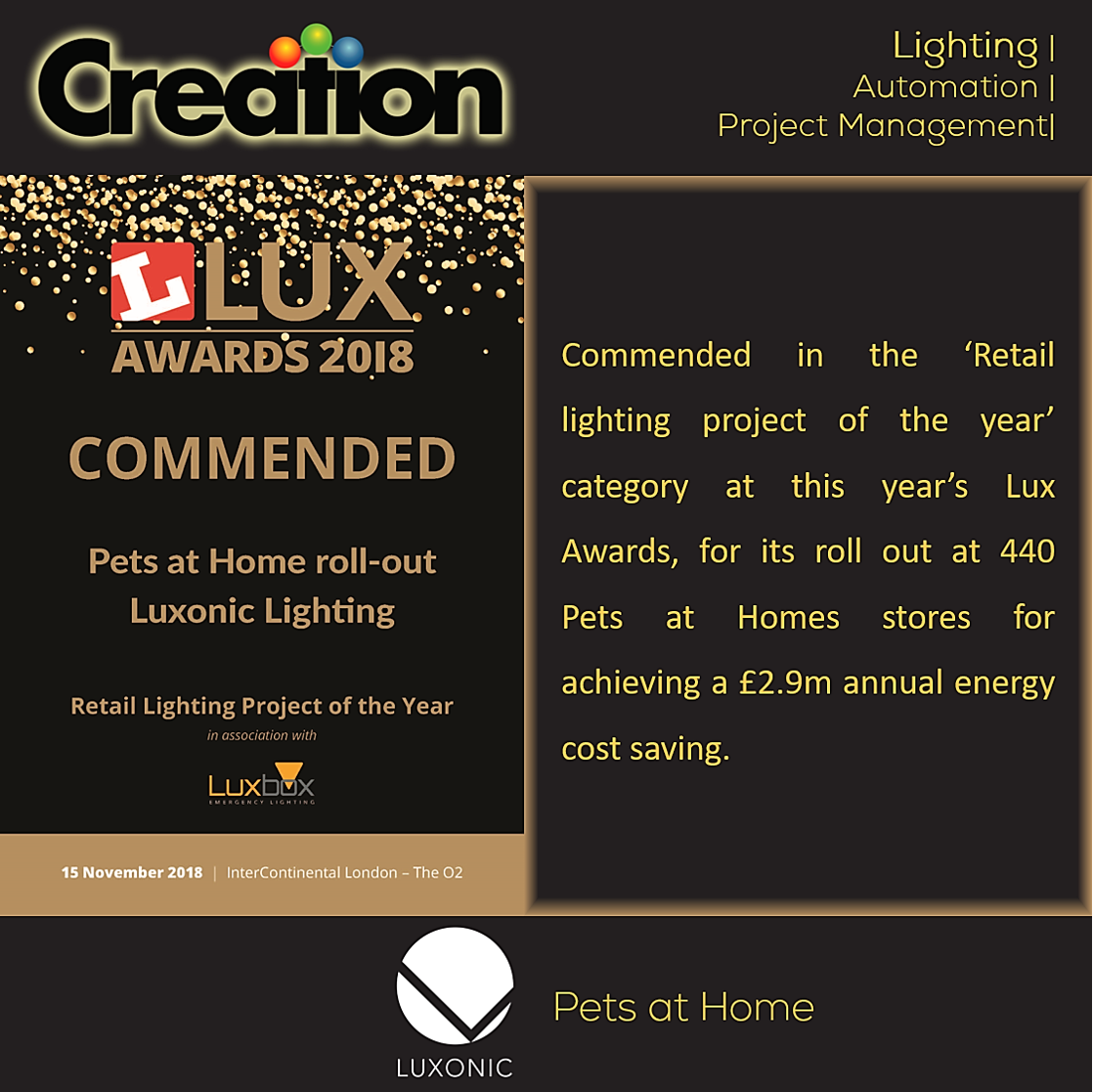Large spaces? Heavy electricty bills? Switch to #HI_Max by @_luxonic from UK. Commended at #LuxAwards 2018, for its roll out at 440 'Pets at Homes Stores' for achieving a £2.9m annual #energy cost #saving, Hi-Max is THE solution you are looking for! https://goo.gl/px6z2k.
