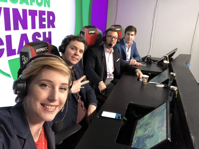 Having a lot of fun this weekend with these guys on the panel! You can enjoy the show and the Dota on #MegafonWinterClash Фото