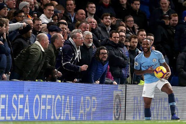 Well done Raheem Sterling not giving them the reaction they want. Chelsea fans show time and time again how vile they are, disgusting club and fan base #Est2004 Photo