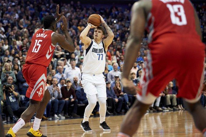 Tremendo: 11 puntos de Luka Doncic seguidos en el último cuarto y ganó en los últimos tres minutos a los Rockets: Photo