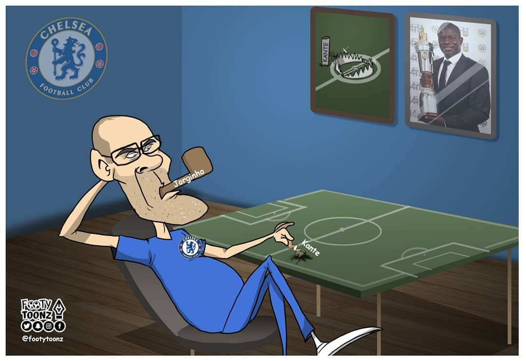 e5aa02abfa8 Xtra Minute Is Kante being wasted by Sarri in his new role   Kante  Sarri   CFC PremierLeague   FootyToonz pic.twitter.com e57Oe8mmaw