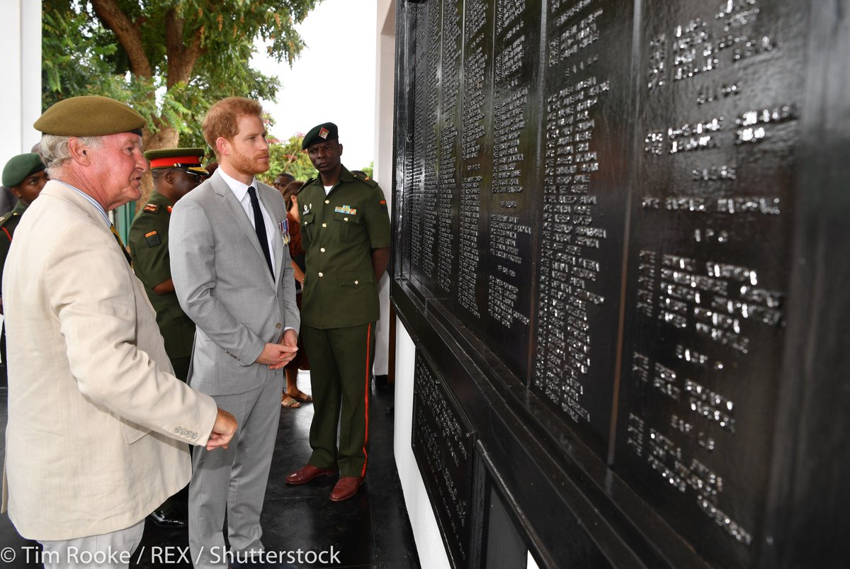 On the second day of #RoyalVisitZambia The Duke of Sussex visited Burma Barracks to attend an event commemorating #WWI and #WWII Zambian veterans 🇿🇲