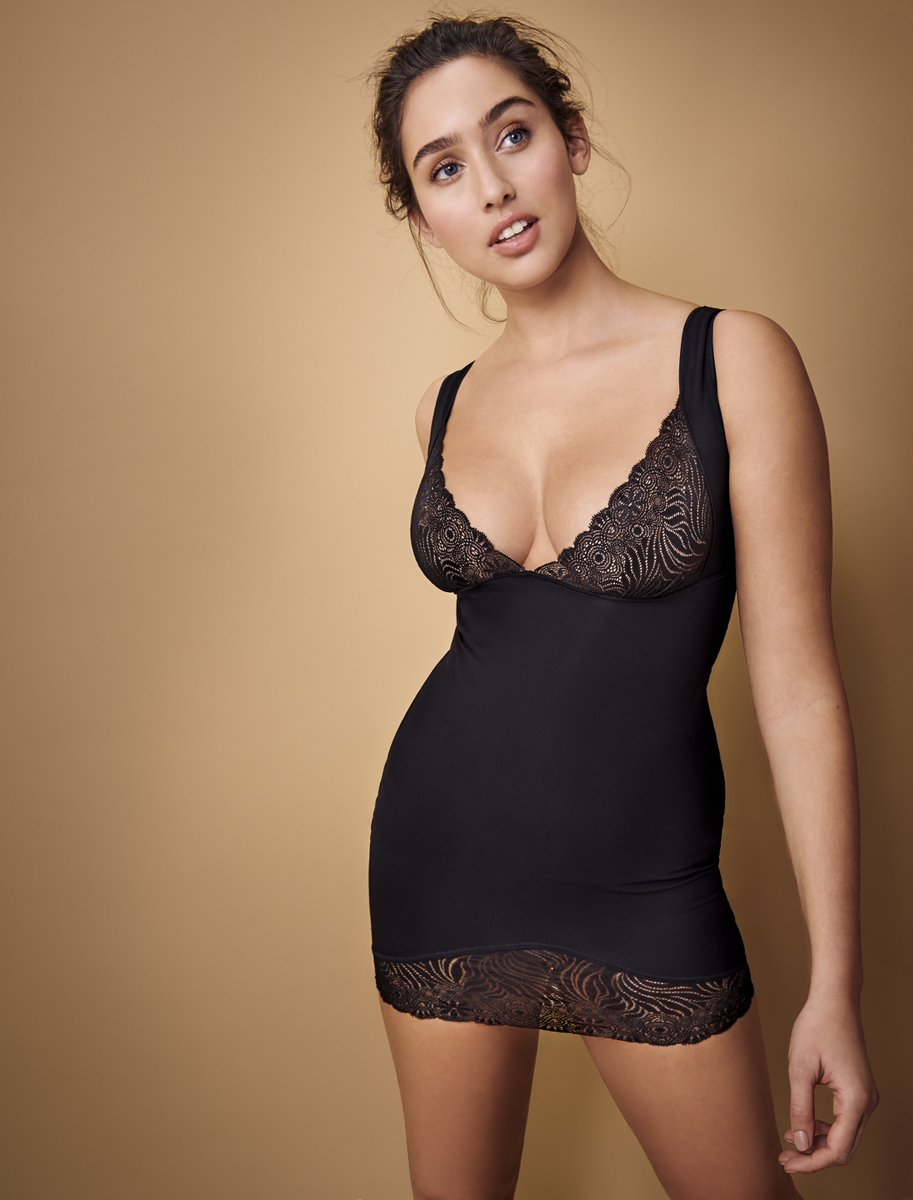 ceea62d827 The Simone Perele Top Model Dress Shaper is designed to stay in place  without silicone  the soft lycra beauty knit sculpts curves.  shapewear ...