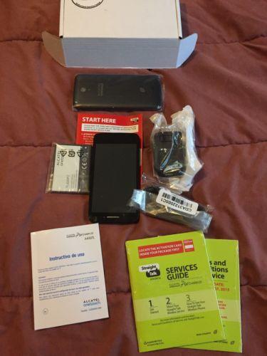 Phone Alcatel Pixi Charm LTE Straighttalk Smartphone A450TLReconditioned...