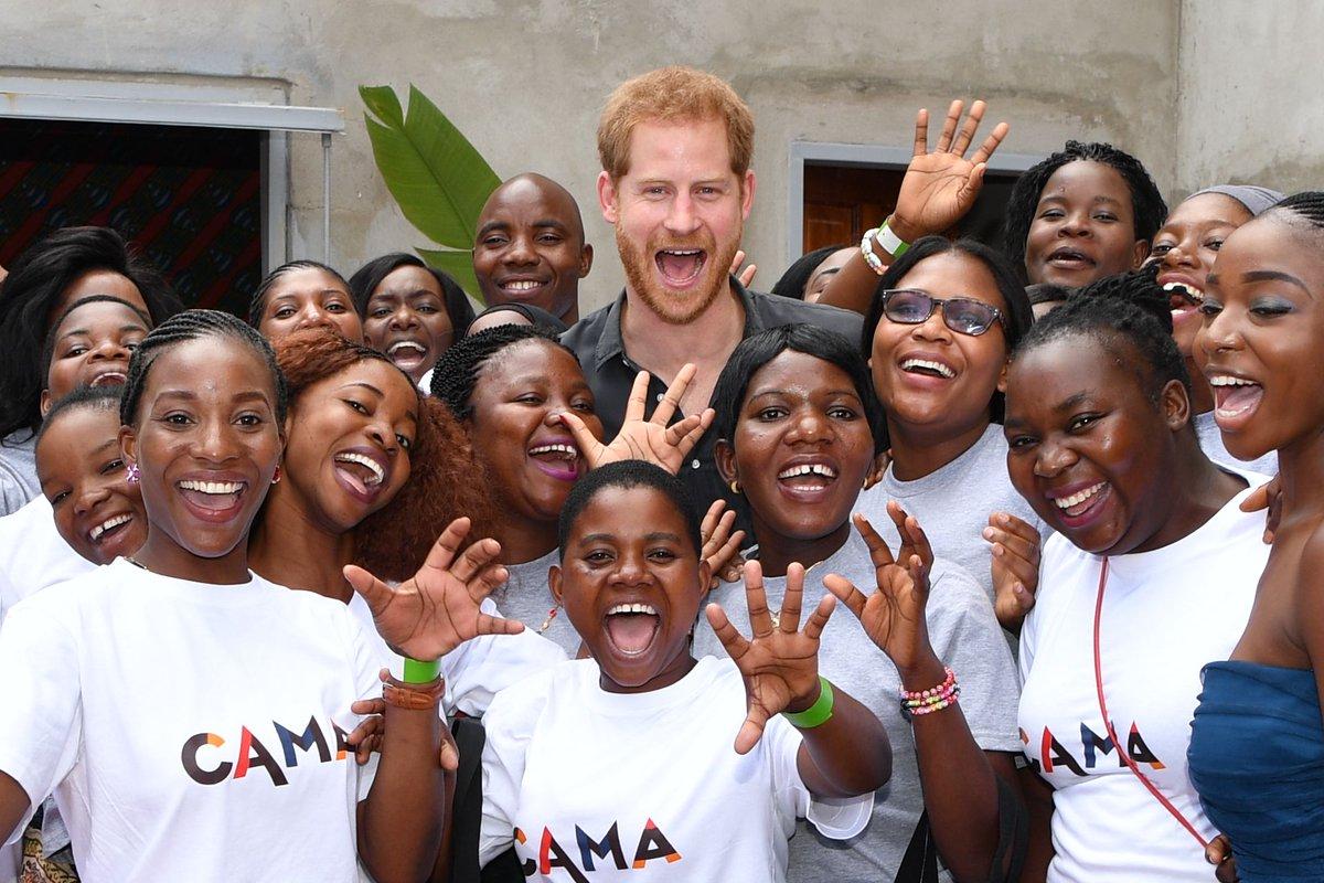 Prince Harry Duke of Sussex visiting Circus Zambia on second day of #royal #RoyalVisitZambia #Zambia
