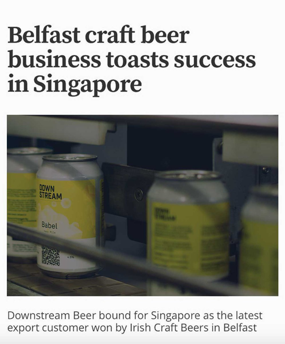 Congratulations to @IreCraftBeer as their unique @DownStreamBeer wins orders as far out as Singapore! @arcnetHQ is so proud to bring our @DistilledID technology along for the ride. Learn every bit of #provenance by scanning the QRs on the cans. #blockchain #traceability https://t.co/hUCqUyiebw