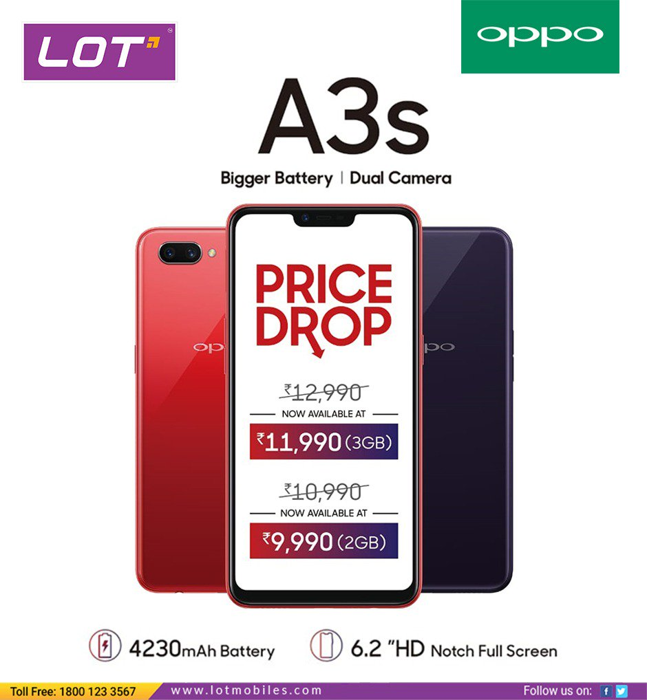 Nearest Battery Store >> Lot On Twitter Oppo A3s Is Here With Amazing Features