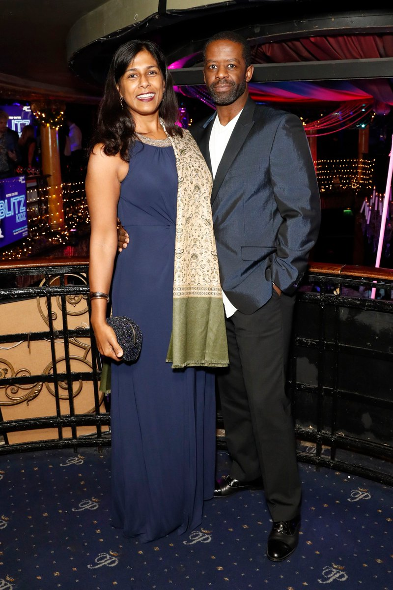 Adrian Lester with nice, Wife Lolita Chakrabarti