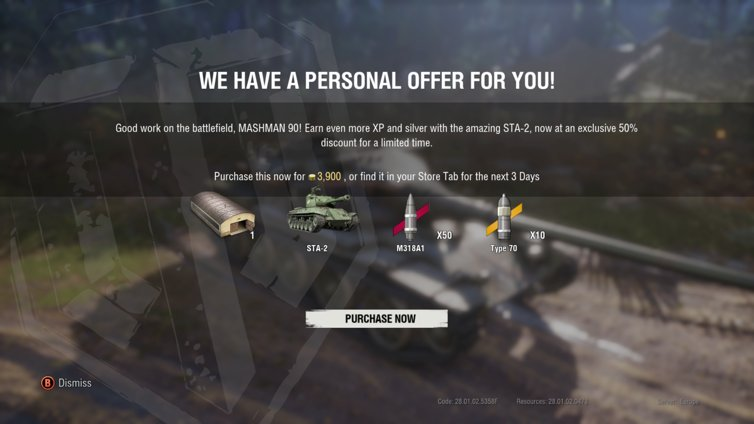 STA-2 Personal Offer for 3,900 Gold - General Discussion - Official