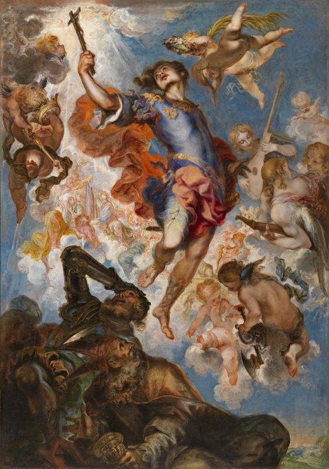 El triunfo de San Hermenegildo, Francisco de Herrera el Mozo, 1654 #OrgulloBarroco #BaroquePride Photo
