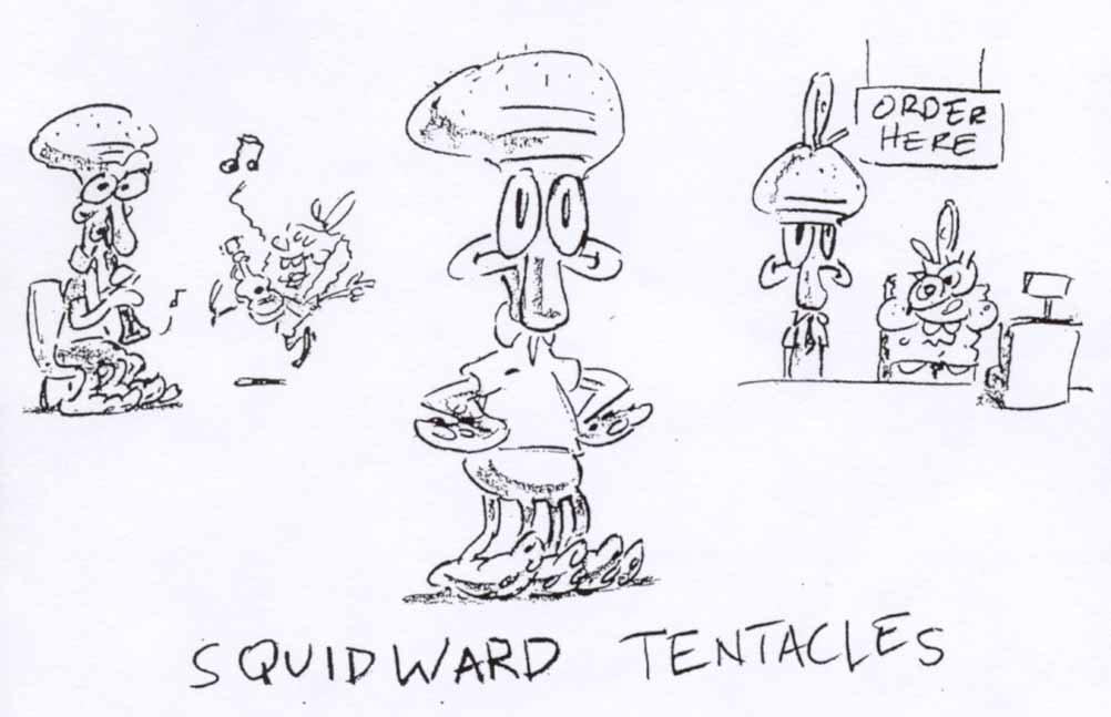 Sketsa awal karakter di kartun SpongeBob SquarePants