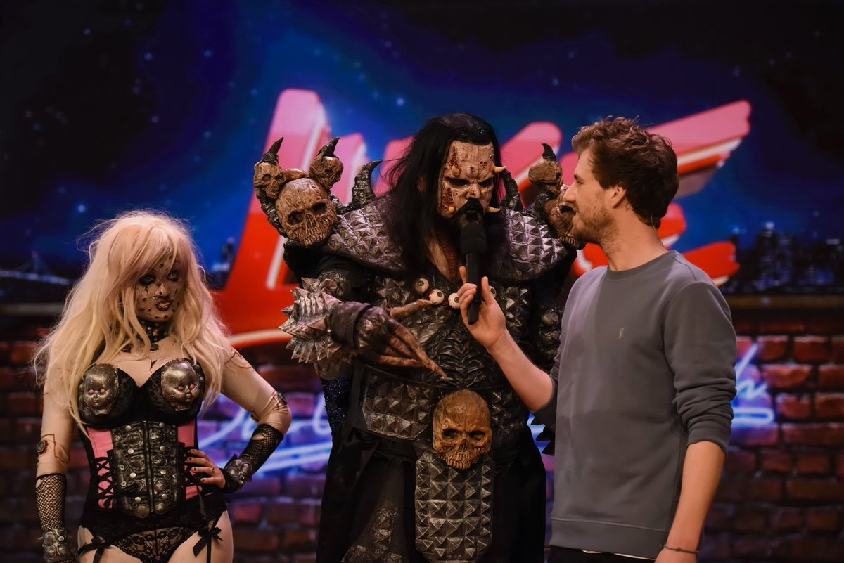 "This past Sunday Lordi was a guest on the German TV show ""Luke! Die Woche und Ich"" this past Sunday! The show can be watched on the link below:  https://t.co/QCymTVgv6g https://t.co/L5dllMjrkI"