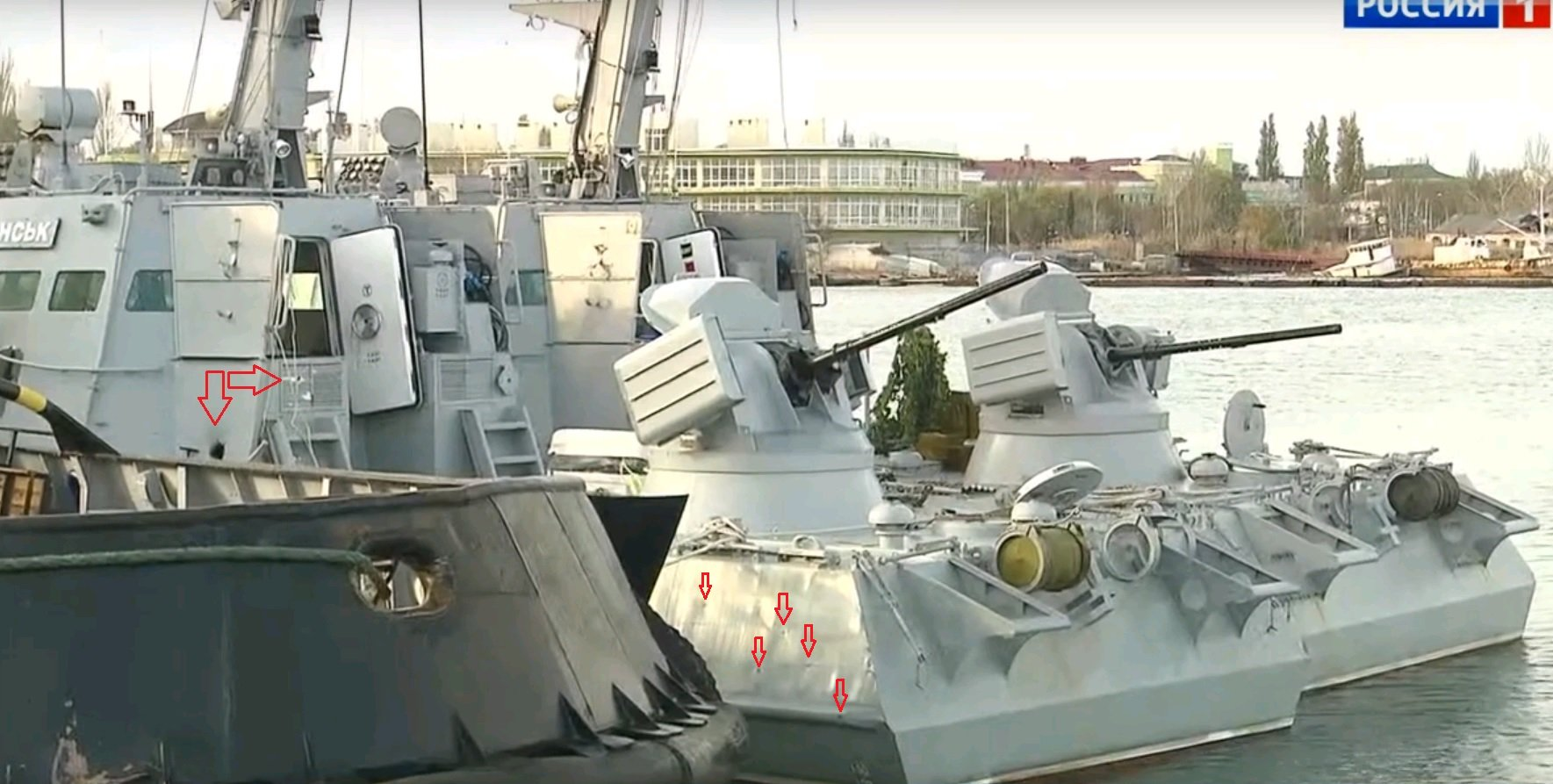 Image 10: Damage to the Ukrainian Navy ship 'Berdyansk'
