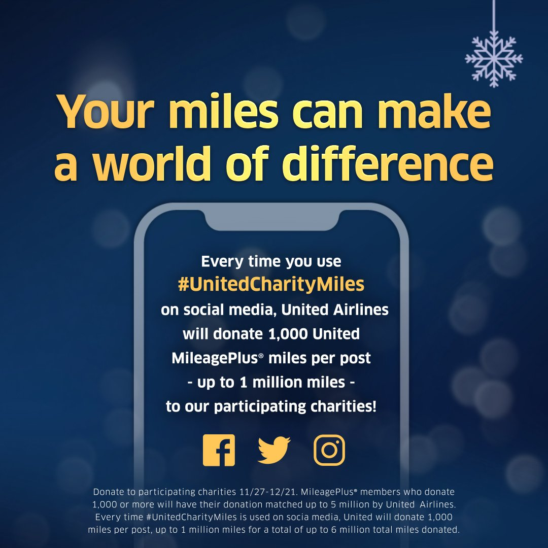 United Airlines Mileage Plus >> United Airlines On Twitter Join Us In Donating This Givingtuesday
