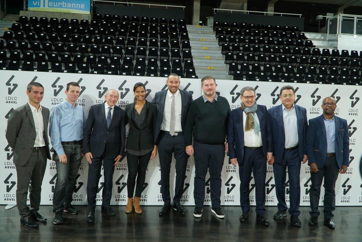 Quel plaisir de voir @LDLCASVEL et toute léquipe de @tonyparker retrouver l'@EuroLeague ! Une très belle récompense pour l'ensemble du club, pour ses équipes et pour tous les grandlyonnais. Nous continuerons à accompagner fièrement l'#ASVEL dans leurs projets futurs !