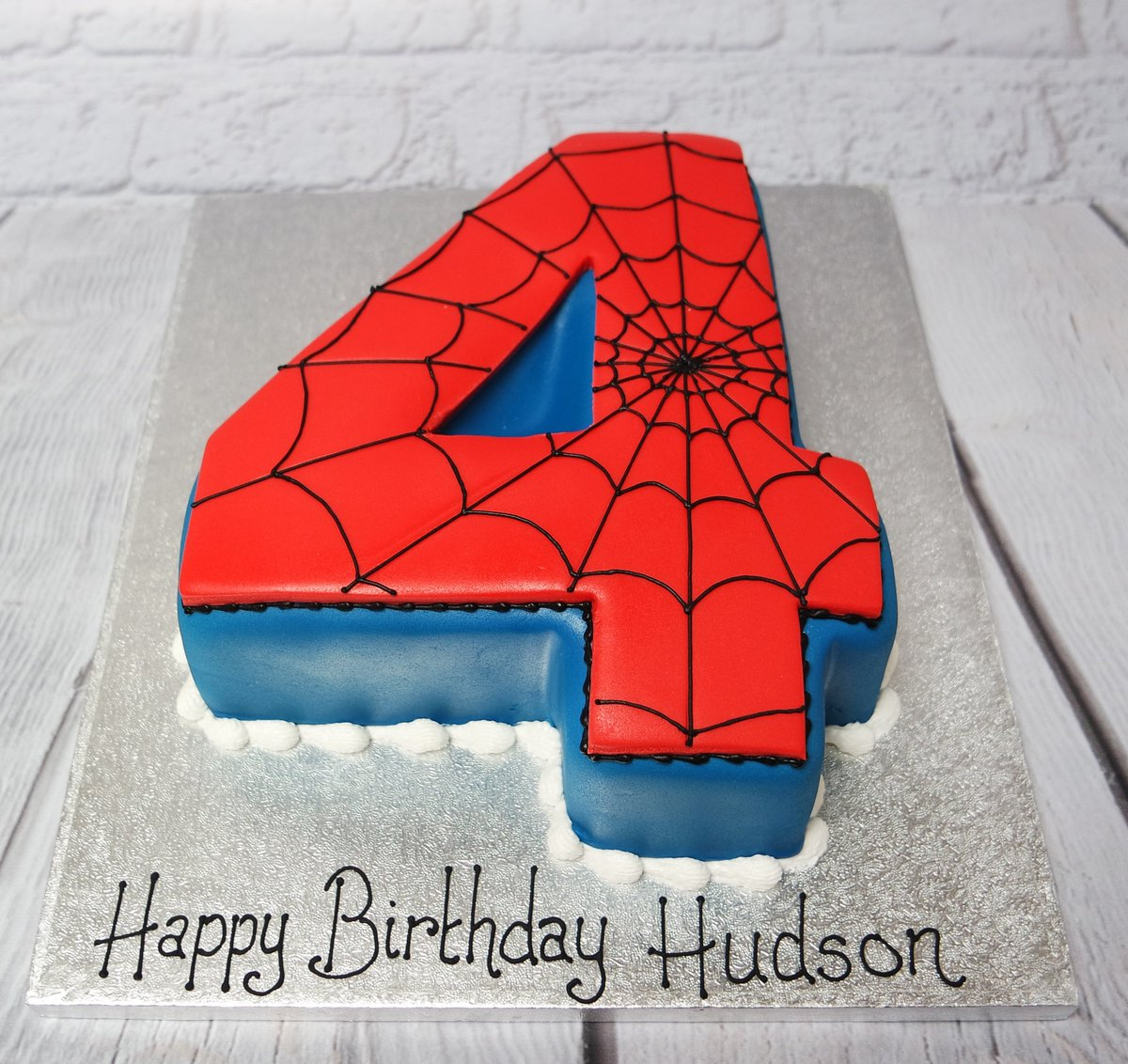 Admirable Crafty Cakes On Twitter We Hope Hudson Loved His Spider Man Personalised Birthday Cards Paralily Jamesorg