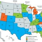 Image for the Tweet beginning: 10 US states () screen