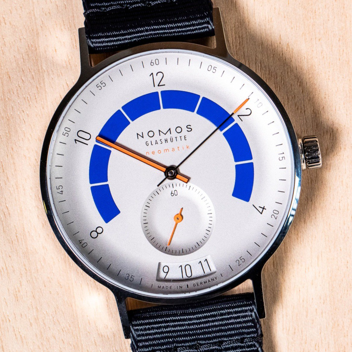 """d9771db1287a Check out our latest episode of """"Under a Minute"""" to learn more about 2018  Baselworld s most luminous launch – the NOMOS Autobahn. Click here for the  video  ..."""