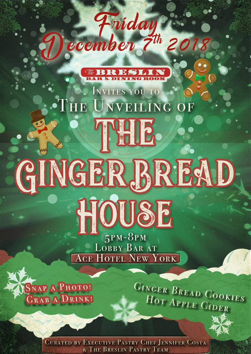 7th 5 8pm Snap A Photo Have Some Delicious Gingerbread Cookies You Cant Forget The Hot Apple Ciderpictwitter KsqD3K5Unv At Ace Hotel New York