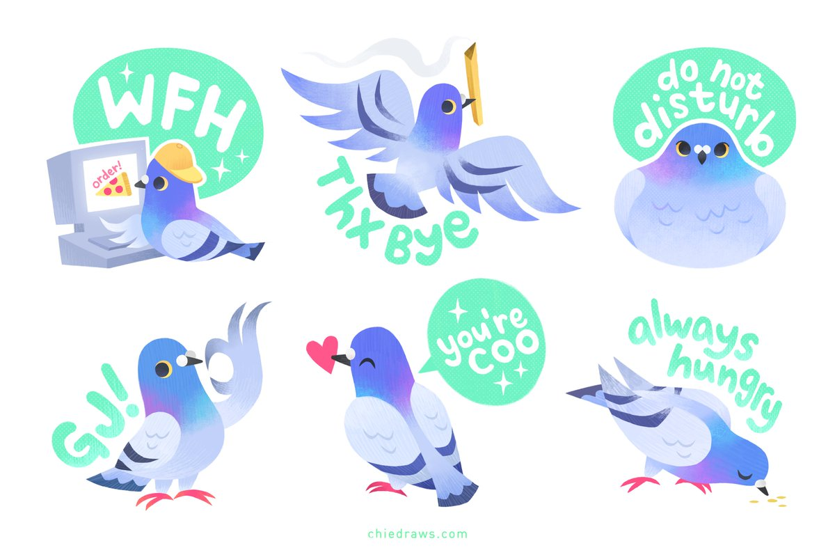 New sticker sheet! Add some piji flair to yo stuff 🐦😎