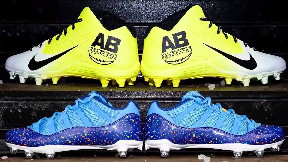 .@joehaden23 ➡️ Special Olympics @AB84 ➡️ Live Your Vision Foundation  #MyCauseMyCleats
