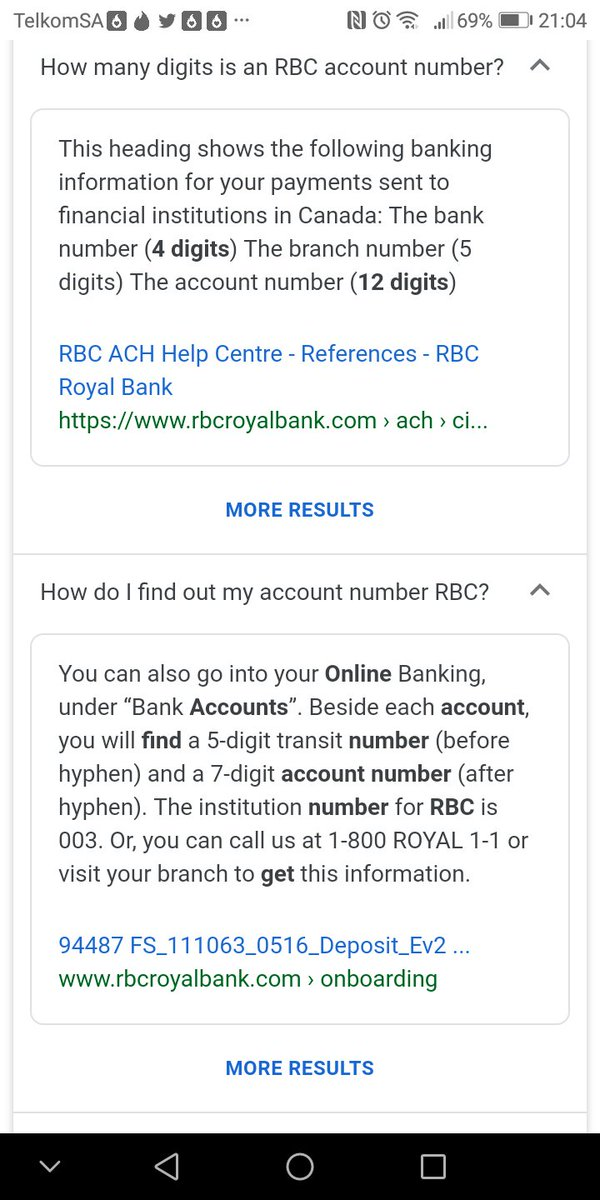 Royal Bank Of Canada Account Number Format