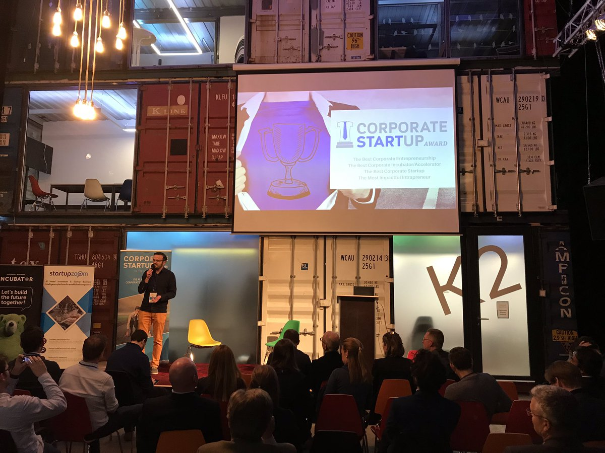 """Congratulations to the @DB_Skydeck team! The #SkydeckAccelerator won the 3rd place of the Corporate Startup Award in the category """"Corporate Entrepreneurship"""". Best precondition for the #demoday on thursday :-) #dbdigital #2thecrazy1"""