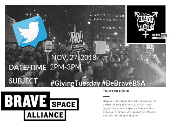 BraveSpaceAlliance (@BSAllianceChi) on Twitter photo 27/11/2018 19:07:43