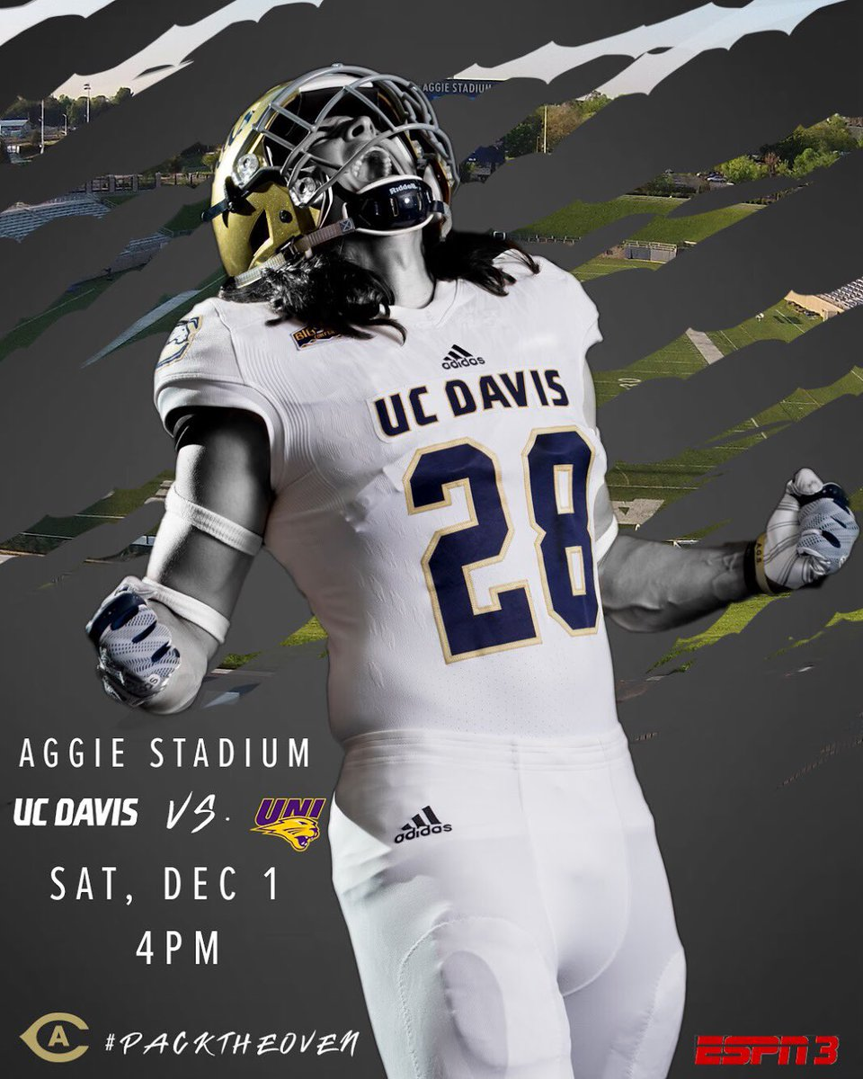 more days until we take on UNI! Did we mention we're going to be broadcast on ESPN 3! Let's #packtheoven and show the nation what Aggie Pride is all about!  #GoAgs | #Agscension  :  http:// ow.ly/UxiX30mM3DV    <br>http://pic.twitter.com/fNjHdyO6gt
