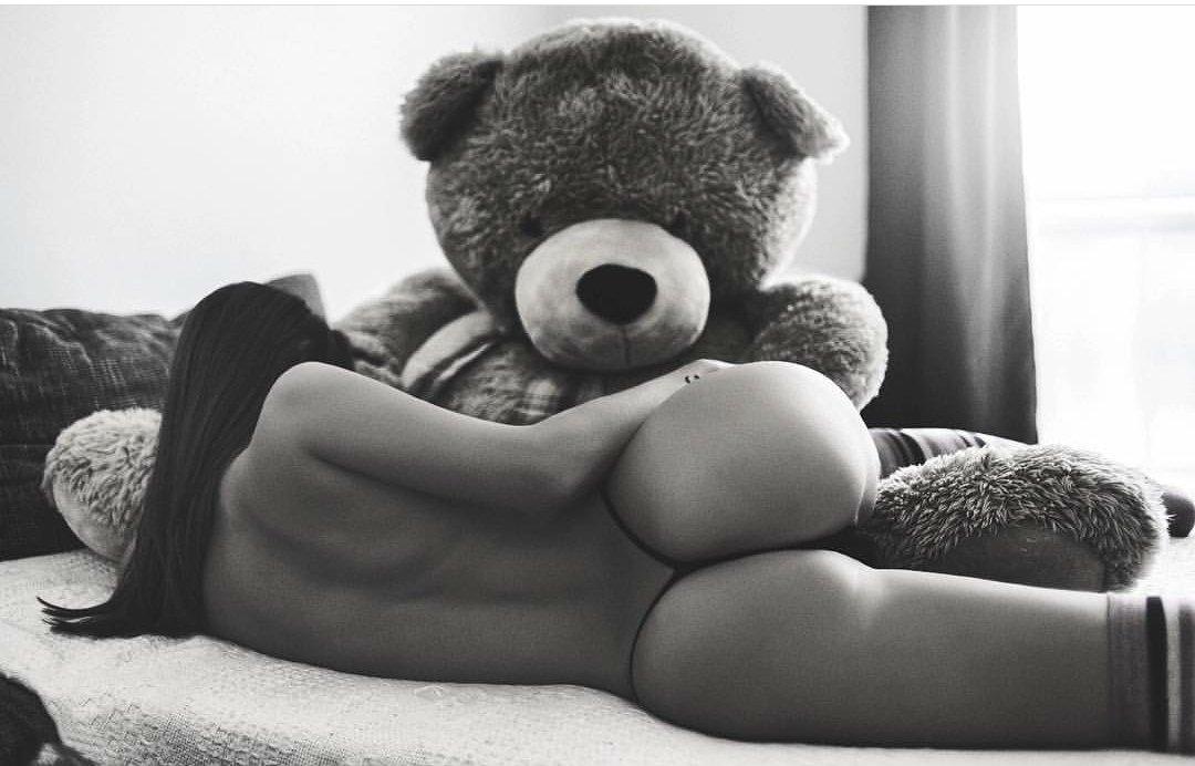 Teddy bear blowjob