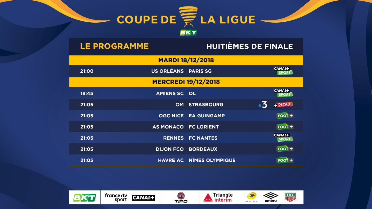 COUPE DE LA LIGUE. ÉDITION 2018-2019. - Page 3 DtCUbfzWoAAB5iW