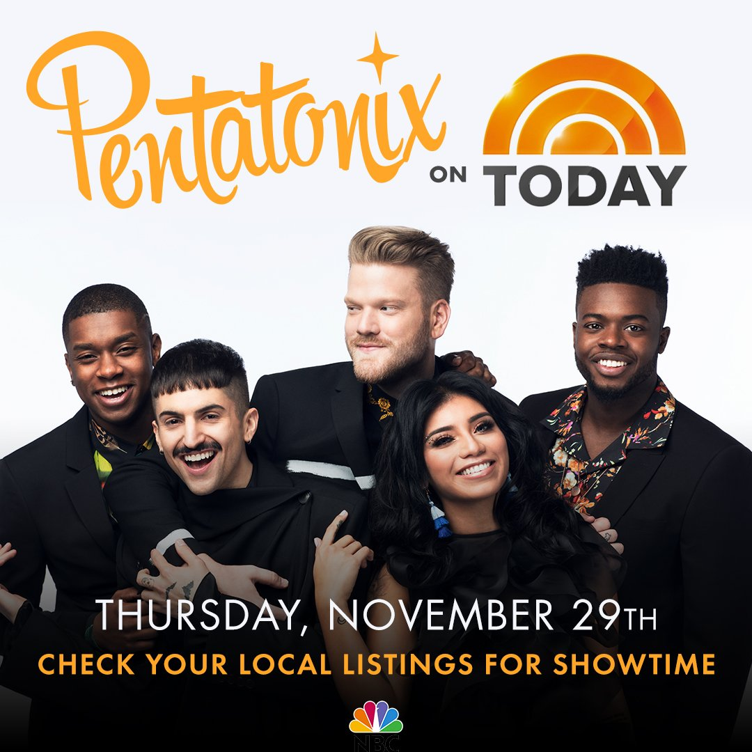 Pentatonix Christmas Songs.Pentatonix On Twitter Be Sure To Tune In To The Todayshow