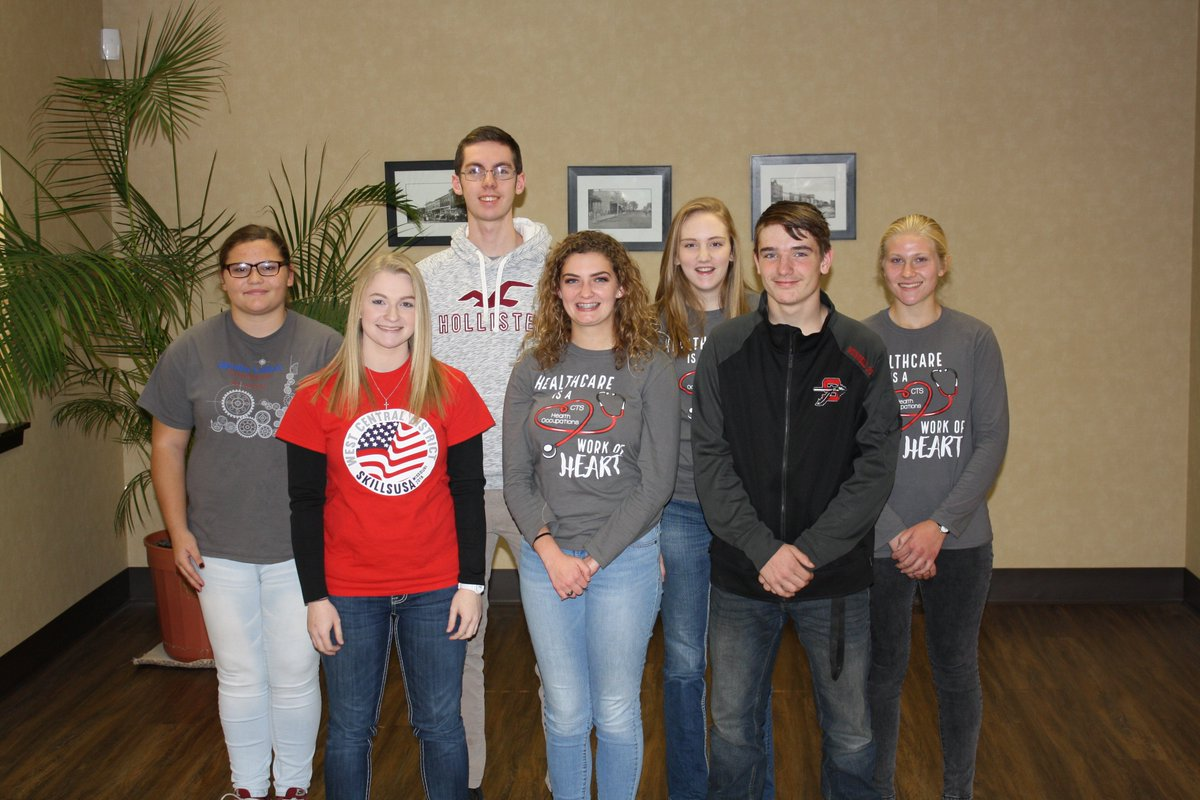 Congratulations to our afternoon SkillsUSA officers: Hailey Rambo, reporter;  Destinee Young, secretary; Tanner Wray, treasurer; McKenna Mason, vice president;  Madison Anderson, president;  Drayden Russell, historian;  and Abigail Hicks, parliamentarian.