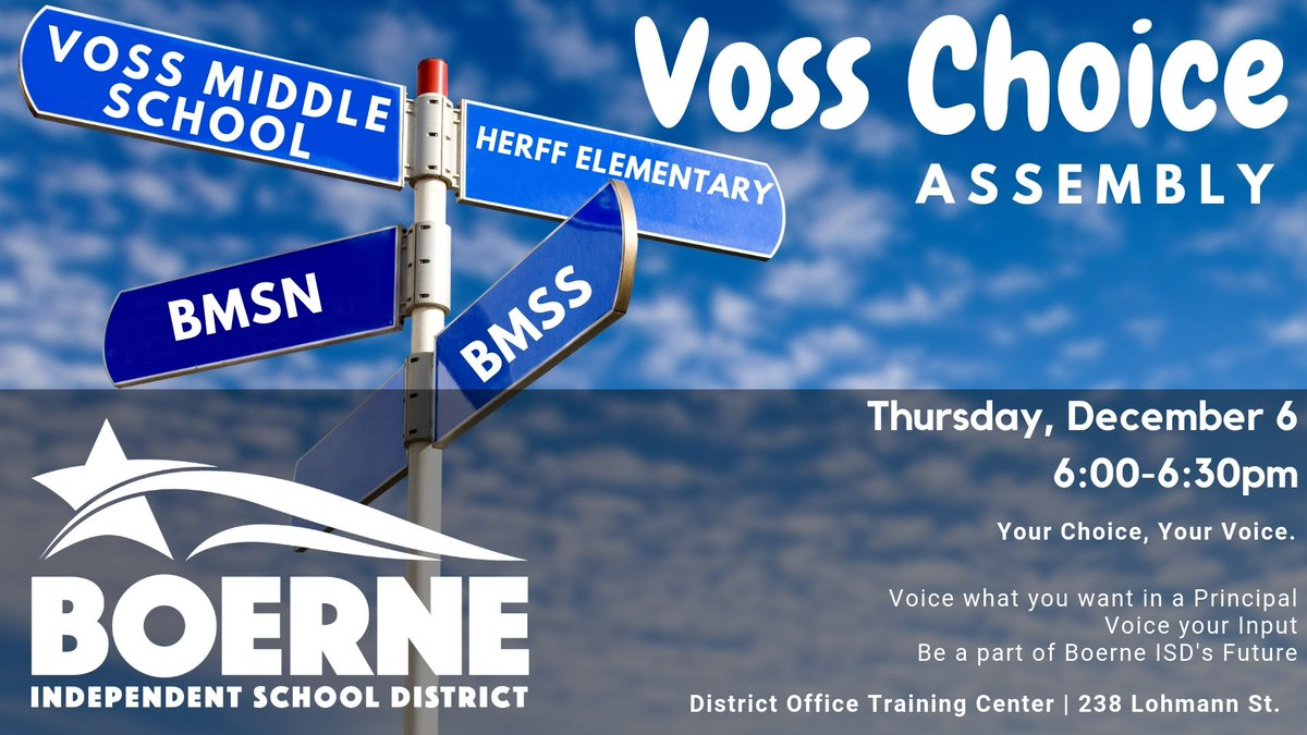 dd3ac97188c Have you heard about our Voss Choice Assembly happening next week  Plan to  join us and share your input as we head into this exciting season of ...