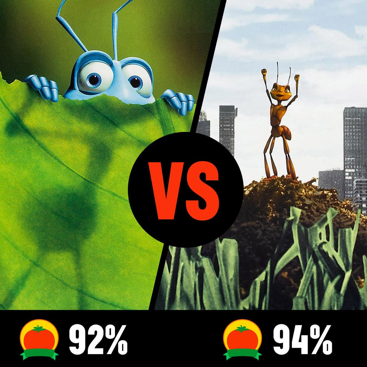 Rotten Tomatoes On Twitter A Bug S Life And Antz Both Released 20