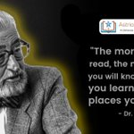 """""""The more that you read, the more things you will know. The more you learn, the more places you will go."""" - Dr. Seuss  https://t.co/uG5D4PIzhc"""