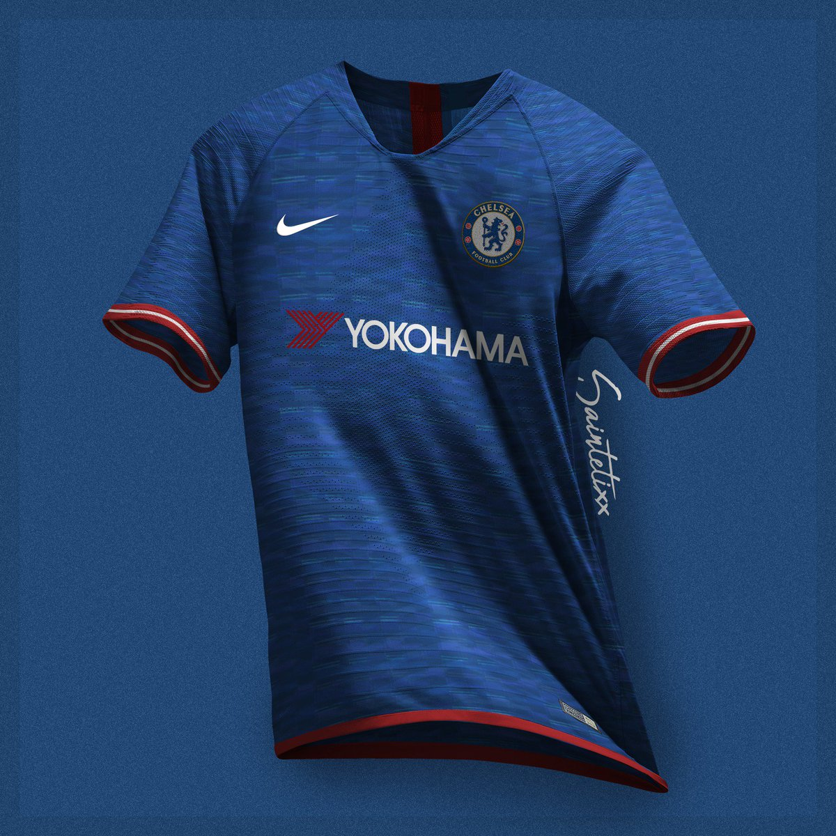 eabb928d143 Chelsea FC x Nike 19 20 concept kits . Mockup    rupertalbe  CFC  Chelsea   ChelseaFC  Giroud  Kanté  Hazard  Sarri  Bluespic.twitter.com 8IdFuQvp6W