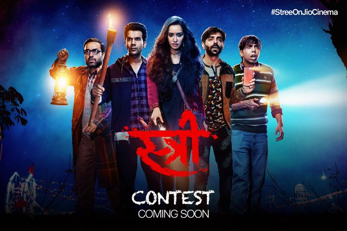 Participate in #StreeContest.  For more details follow @JioCinema .  @RajkummarRao #DineshVijan @PVijan