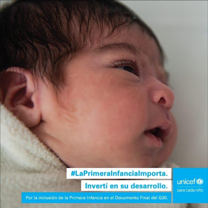 Invertir en la primera infancia permite estimular su desarrollo y crecimiento. Vos también podés comprometerte para que sea posible ¡Dale RT para que los líderes del #G20 demuestren que #LaPrimeraInfanciaImporta! @UNICEF