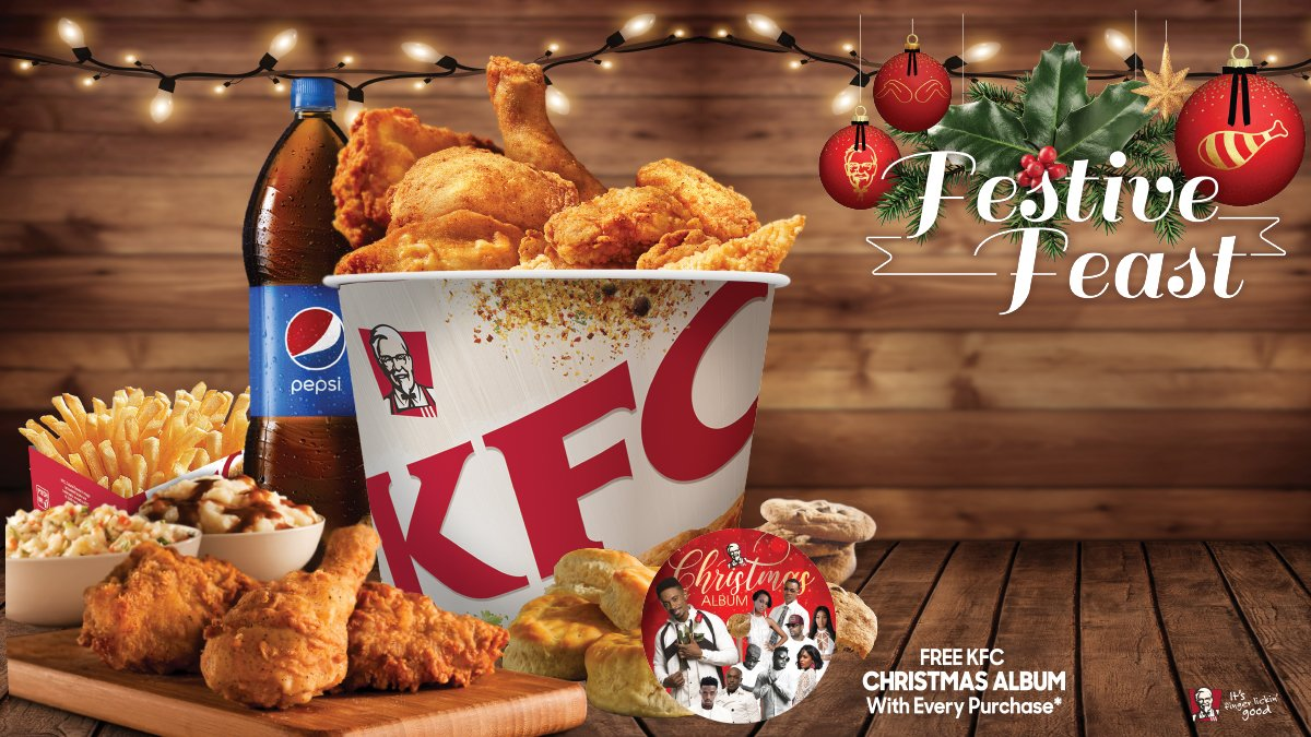 Kfc Jamaica On Twitter Tun Up Di Vibes This Season With Our Kfc Festivefeast 12 Pieces Of Chicken 1 Family Fries 4 Biscuits 3 Coleslaws 3 Mashed Potatoes 4 Cookies A