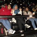 Our youth group is at the movies having fun before