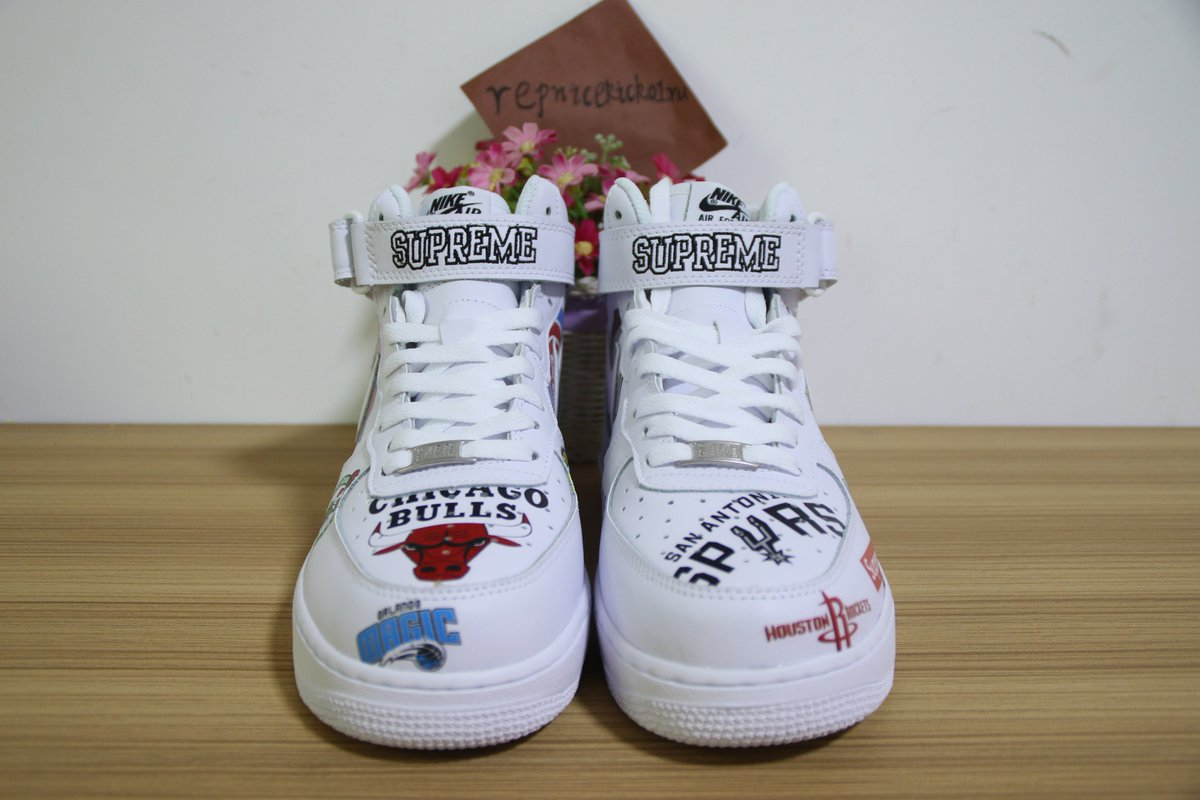 1264761fd0e Authentic Air Force 1 Mid Supreme NBA White     buy from  website http   www.repnicekicks01.ru  Email repkicks hotmail.com  Adidas   yeezy  sneakerhead ...