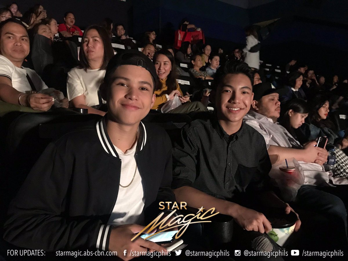 Darren Espanto with Kyle Echarri and Desiree Del Valle with Boom Labrusca at last night's premiere #ThreeWordsToForeverNowShowing