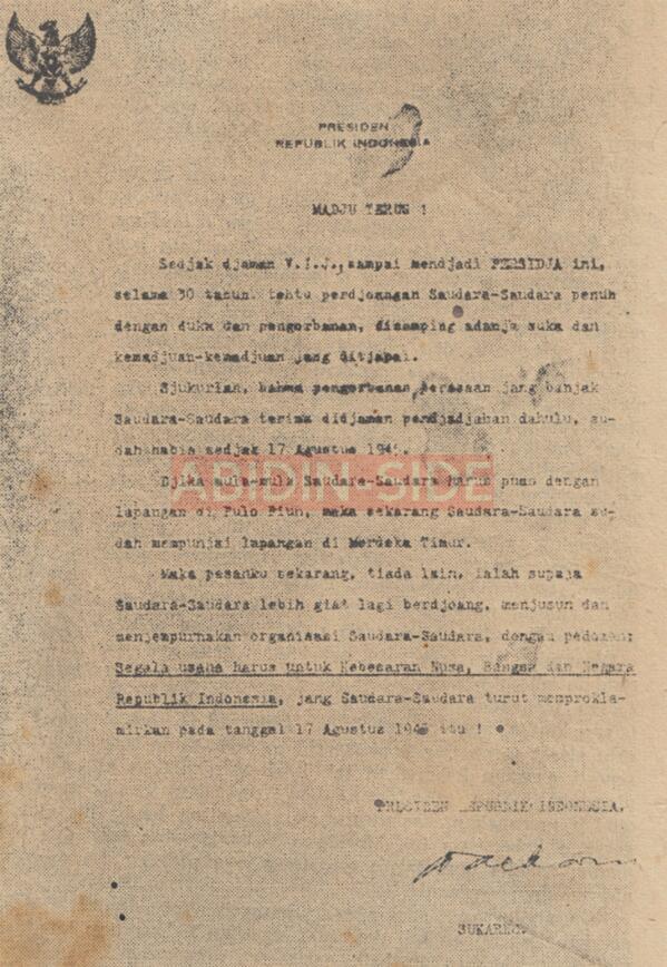 Persija 90 tahun dan Teori 1950 kembali muncul. Jikalau Persija lahir tahun 1950 sebagaimana yang dikemukakan beberapa kawan, tentu tidak akan ada surat dari bung karno ini untuk perayaan 30 tahun persija. Sumber: Surat Kabar Merdeka, November 1958.  #PersijaJakarta